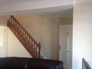 Painting An Open Plan Staircase And Living Room In