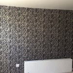 Feature wall when wallpapered