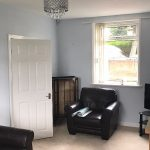 Living room after completion.