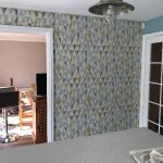 Completed kitchen feature wall.