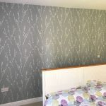 Completed bedroom feature wall.