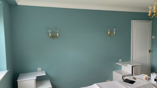 Bedroom walls after completion.