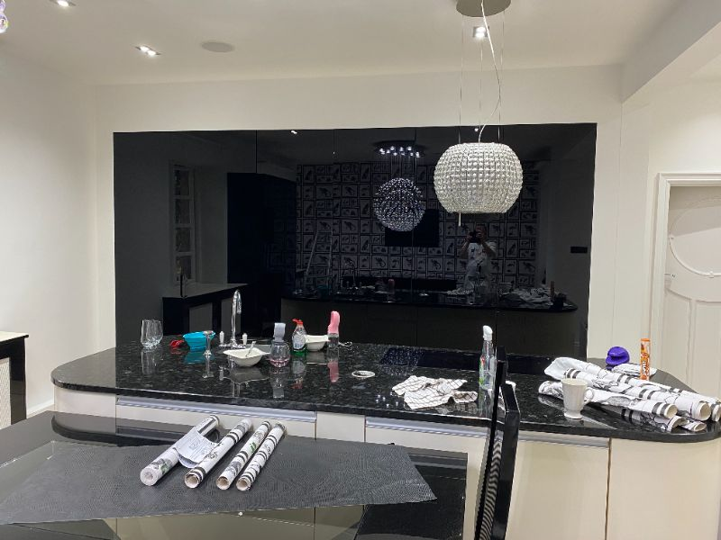 Painting and wallpapering a kitchen in Ranmoor | M ...